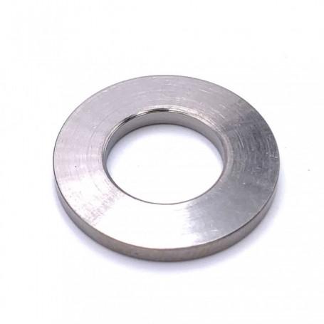 Rondelle Plate Grand Diamètre Exterieur en Titane M6 (Diam Ext 25mm) - DIN 9021 Naturel